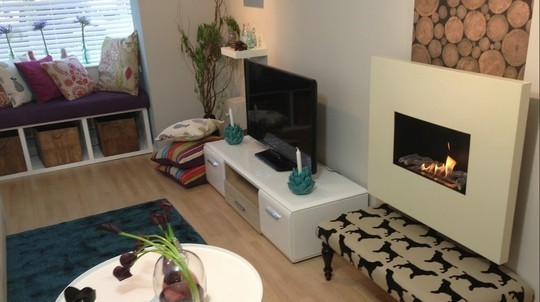 60 minutes makeover bio fireplaces blog for 60 minute makeover living room ideas