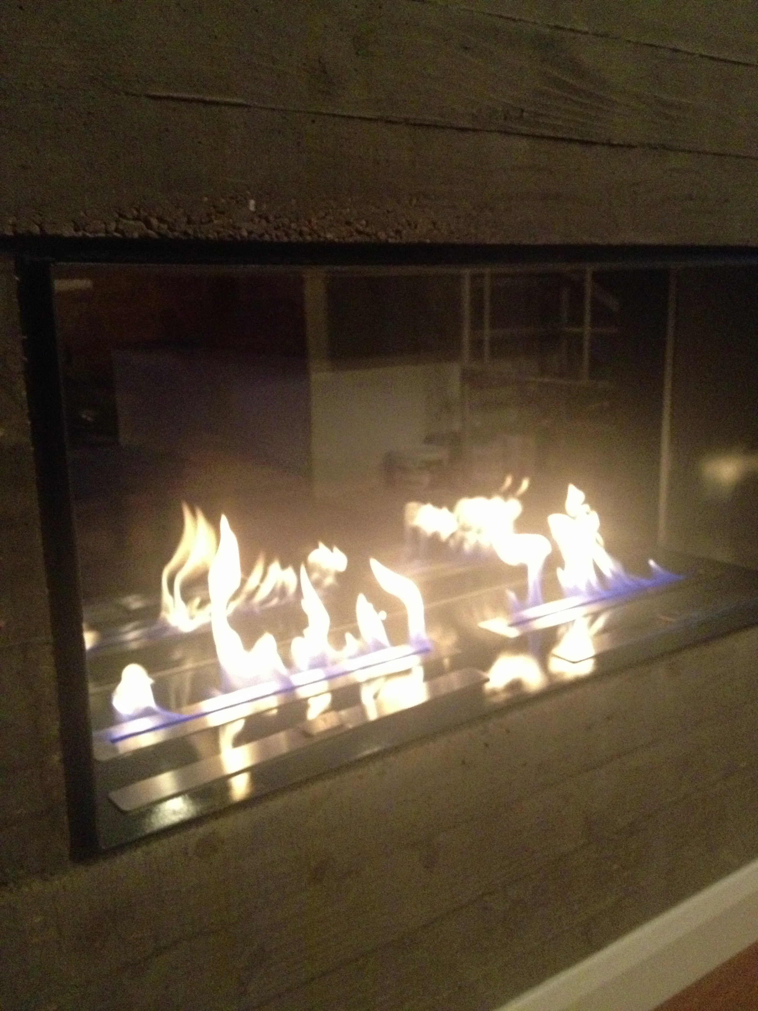 fireplace in concrete bio fireplaces blog