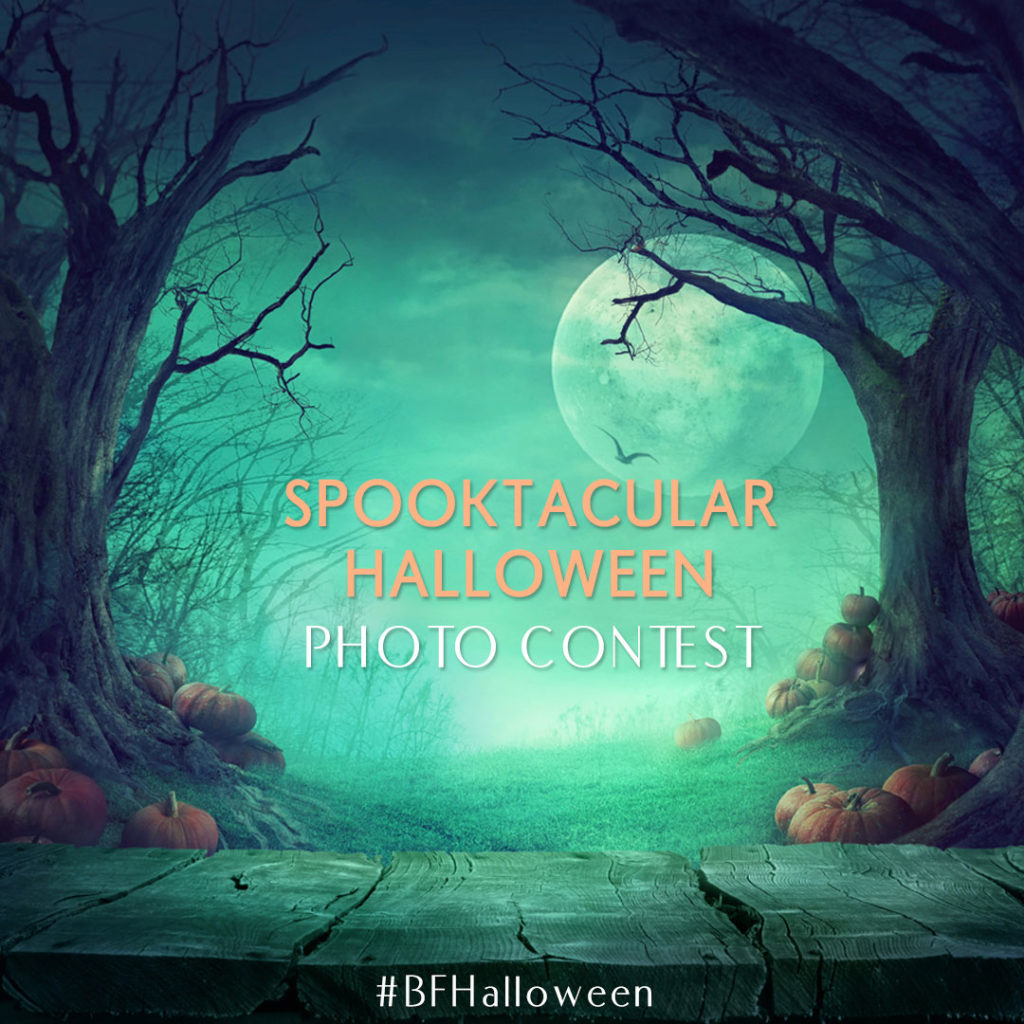 To enter the competition, post a Halloween-themed photo*, use the hashtag #BFHalloween.