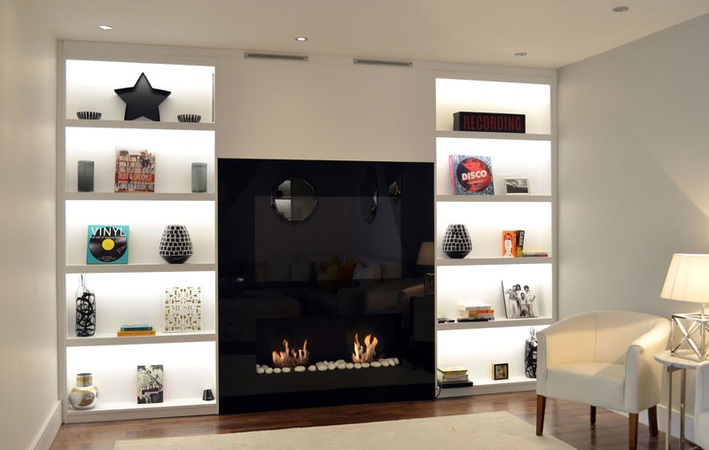 "The Double Vision is a fireplace with an integrated 48"" Samsung LED television."