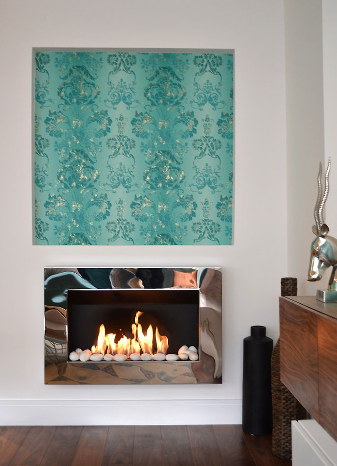 Bio ethanol wall mount fireplace looks beautiful in the refurbished homes.
