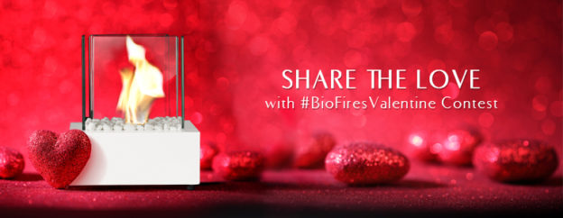 original Valentine's Day tabletop bioethanol burner