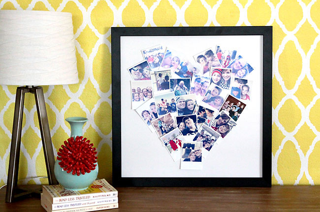Your Valentine will love a photo collage to take them down memory lane.
