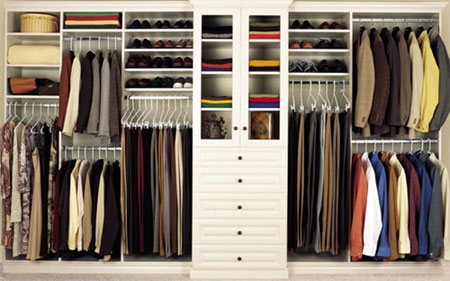 Declutter your closet by giving unused, old clothes to charity.
