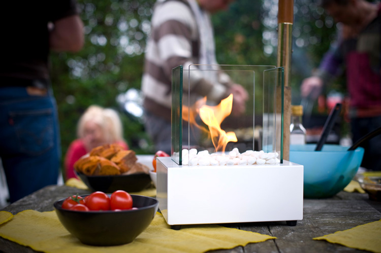 garden tabletop burner for a party